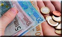dinero (billetes y monedas de euro) en efectivo