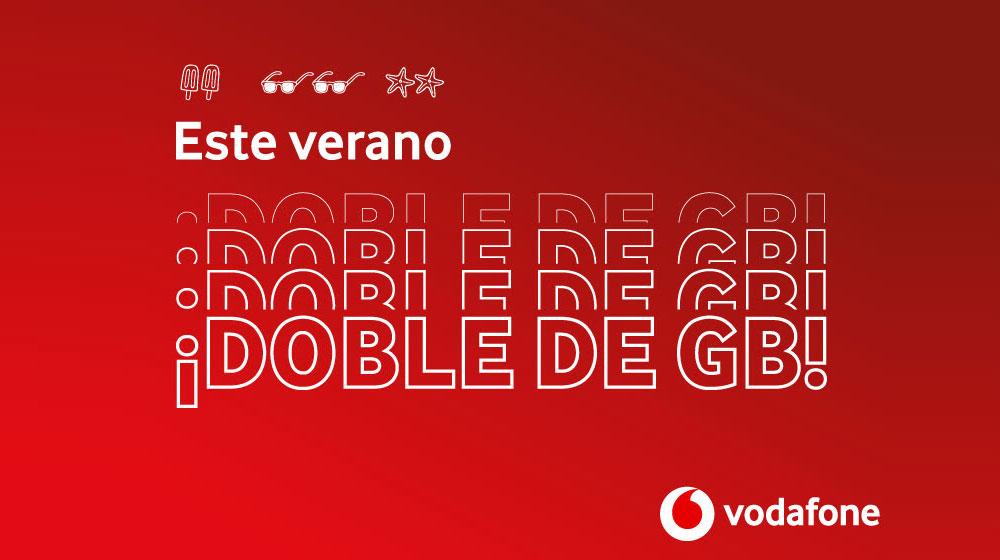 oferta de doble de GB para las tarifas móviles de prepago de Vodafone