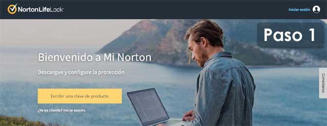 instalación de antivirus Norton 360 Estándar