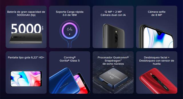 características del Xiaomi Redmi 8
