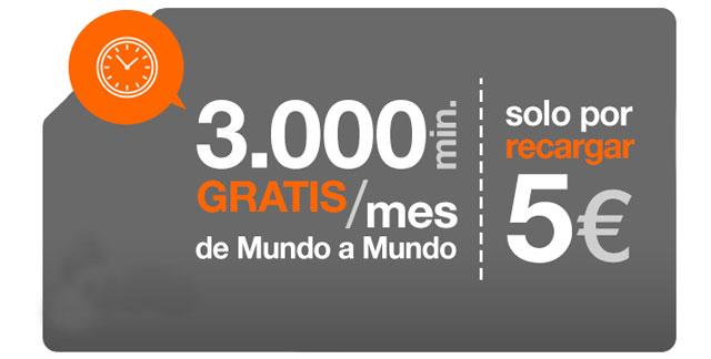 tarjeta SIM prepago Orange Mundo